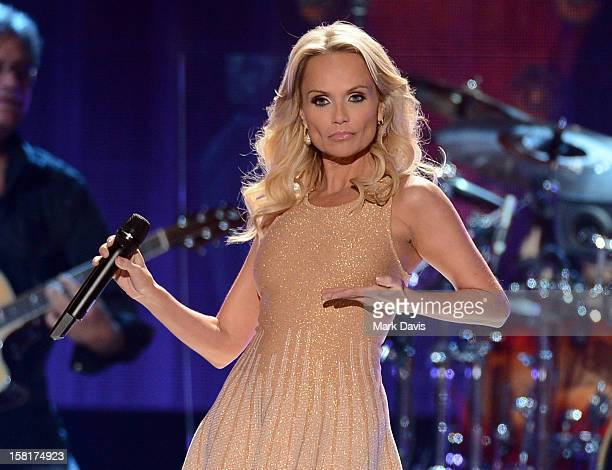 Singer Kristin Chenoweth performs onstage during the 2012 American Country Awards at the Mandalay Bay Events Center on December 10 2012 in Las Vegas...