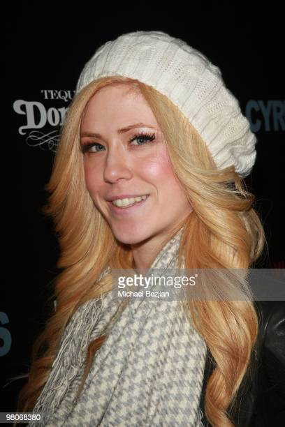 """Singer Kristine Elezaj attends Don Julio Presents """"Cyrus"""" After Party on January 23, 2010 in Park City, Utah."""