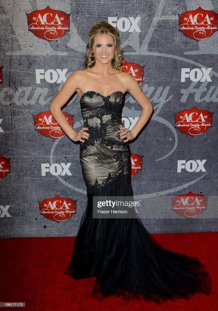Singer Kristy Lee Cook arrives at the 2012 American Country Awards at the Mandalay Bay Events Center on December 10, 2012 in Las Vegas, Nevada.