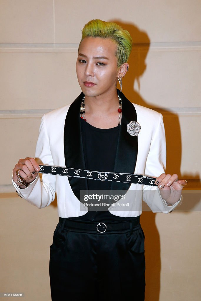Singer Kwon Ji-Yong alias. G-Dragon attends the 'Chanel Collection des Metiers d'Art 2016/17 : Paris Cosmopolite'