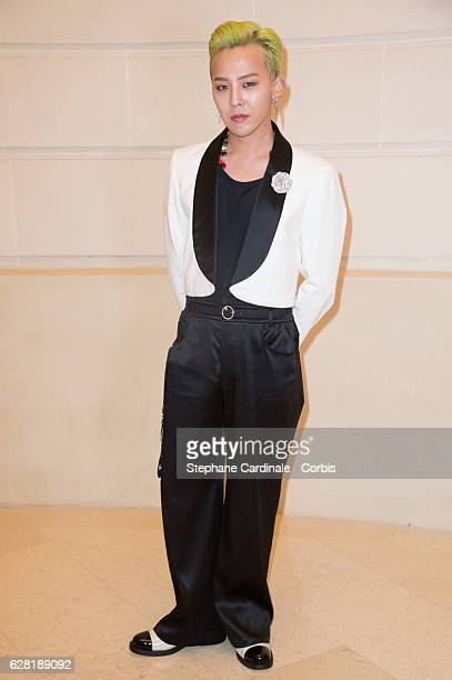 Singer Kwon JiYong alias GDragon attends the Chanel Collection des Metiers d'Art 2016/17 Paris Cosmopolite show on December 6 2016 in Paris France