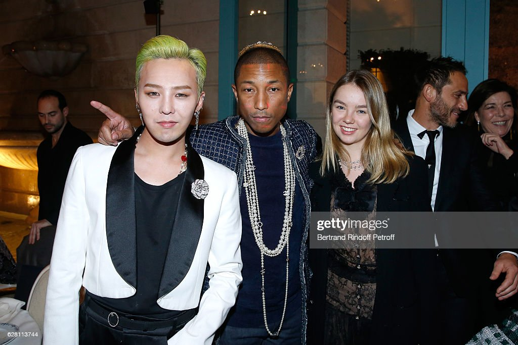 Singer Kwon Ji-Yong alias. G-Dragon, singer Pharrell Williams and Princess Alexandra de Hanovre attend the 'Chanel Collection des Metiers d'Art 2016/17 : Paris Cosmopolite'