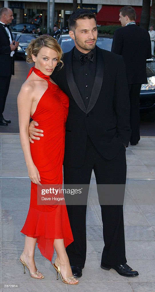 Singer Kylie Minogue and boyfriend, actor Olivier Martinez, attend the Laureus World Sports Awards at the Grimaldi Forum May 20, 2003 in Monaco.
