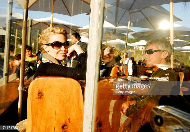 Singer Kylie Minogue and film director Alexander Dahm dine together during her holiday in Chile in the town of Papudo about 190km north of Santiago...