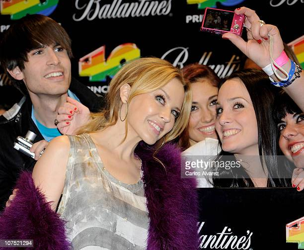 Singer Kylie Minogue attends '40 Principales Awards 2010' photocall at Palacio de los Deportes on December 10 2010 in Madrid Spain