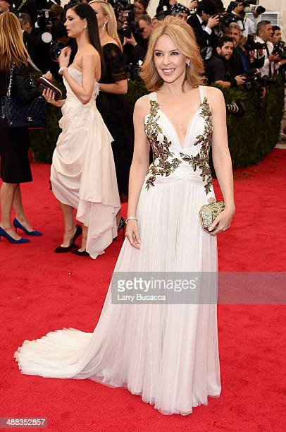 Singer Kylie Minogue attends the Charles James Beyond Fashion Costume Institute Gala at the Metropolitan Museum of Art on May 5 2014 in New York City