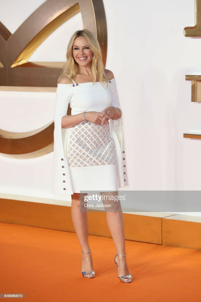 Singer Kylie Minogue attends the 'Kingsman: The Golden Circle' World Premiere held at Odeon Leicester Square on September 18, 2017 in London, England.