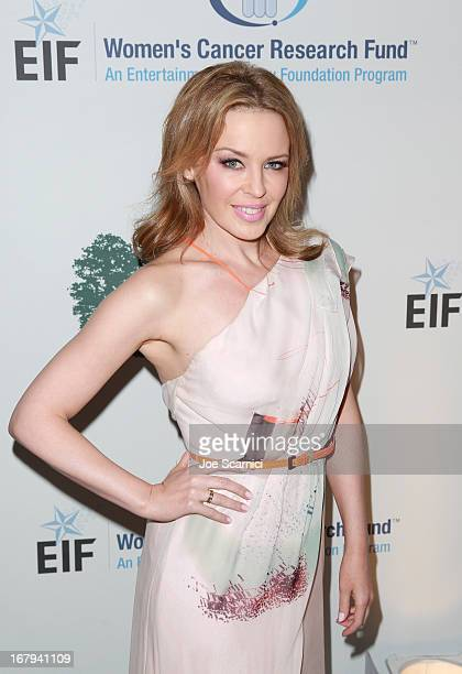 "Singer Kylie Minogue in Carolina Herrera attends EIF Women's Cancer Research Fund's 16th Annual ""An Unforgettable Evening"" presented by Saks Fifth..."