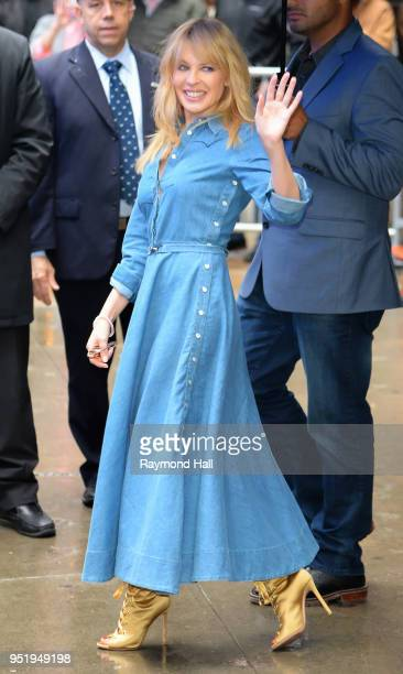 Singer Kylie Minogue is seen leaving Good Morning America on April 27 2018 in New York City