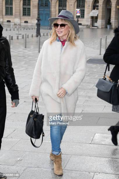 Singer Kylie Minogue is seen on January 16 2018 in Paris France