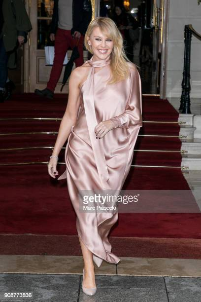 Singer Kylie Minogue is seen on January 22 2018 in Paris France