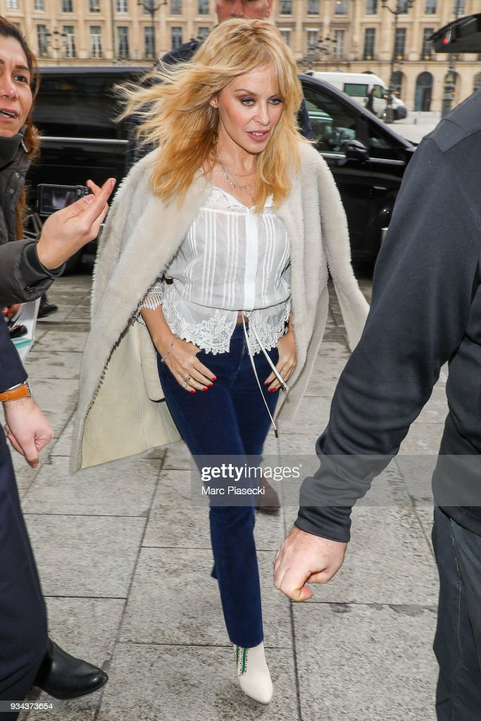 Kylie Minogue Sighting In Paris  - March 19, 2018