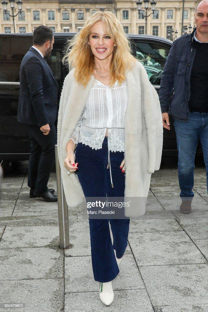 Kylie Minogue Sighting In Paris  - March 19, 2018