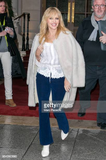 Singer Kylie Minogue is seen on March 19 2018 in Paris France