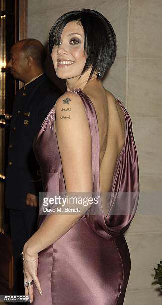 Singer Kym Marsh arrives at the Pioneer British Academy Television Awards 2006 at the Grosvenor House Hotel on May 7 2006 in London England