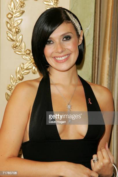 Singer Kym Marsh attends the TV Quick and TV Choice Awards at the Dorchester Hotel Park Lane on September 4 2006 in London England The annual awards...