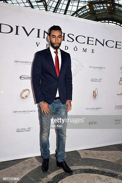 Singer La Fouine attends the 'Diamond Night by Divinescence Vendome' Harumi Klossowska Jewellery Exhibition Preview As Part Of Art Paris Art Fair at...