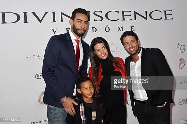 Singer La Fouine Ludivine Sagna her son Lenny and Divinescence Vendome' CEO Jonathan Herbatschek attend the 'Diamond Night by Divinescence Vendome'...