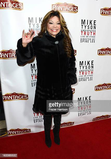 Singer La Toya Jackson arrives at the opening Night Of Mike Tyson Undisputed Truth At The Pantages Theatre at the Pantages Theatre on March 8 2013 in...