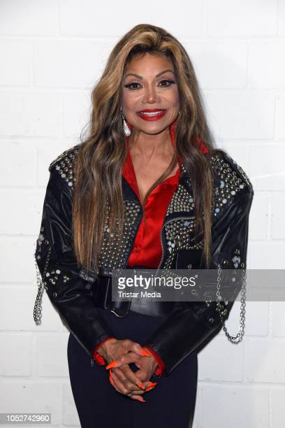 US singer La Toya Jackson attends a press conference to present the 'Forever King Of Pop' show on October 22 2018 in Hanover Germany
