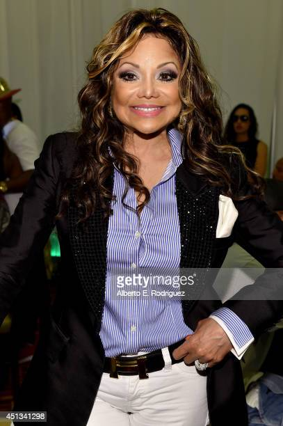 Singer La Toya Jackson attends day 1 of the Radio Broadcast Center during the BET Awards '14 on June 27 2014 in Los Angeles California
