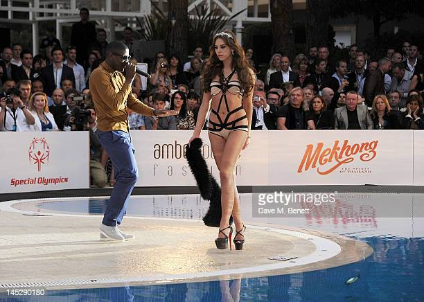 Singer Labrinth performs during the Amber Lounge Fashion Show Monaco 2012 at Le Meridien Beach Plaza Hotel on May 25 2012 in Monaco Monaco