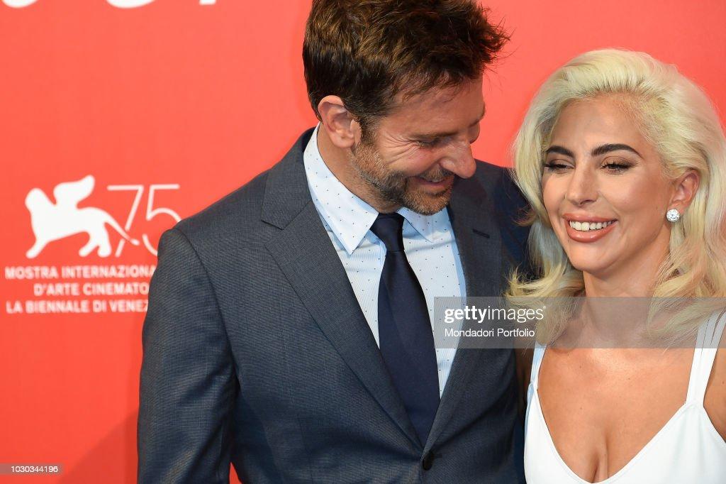 Lady Gaga and Bradley Cooper at 75th Venice Film Festival : News Photo