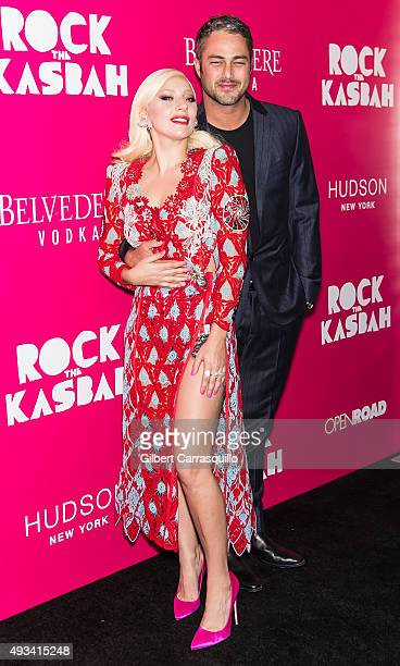 Singer Lady Gaga and actor Taylor Kinney attend the 'Rock The Kasbah' New York Premiere at AMC Loews Lincoln Square on October 19 2015 in New York...