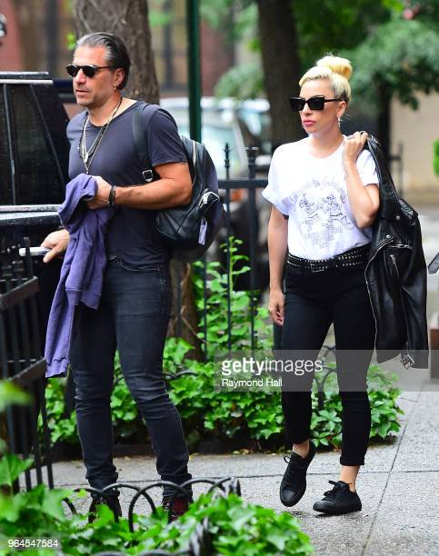 Singer Lady Gaga and Christian Carino are seen walking in Soho on May 31 2018 in New York City