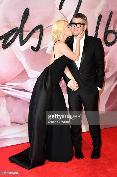 Singer Lady Gaga and desginer Brandon Maxwell attend The Fashion Awards 2016 on December 5 2016 in London United Kingdom