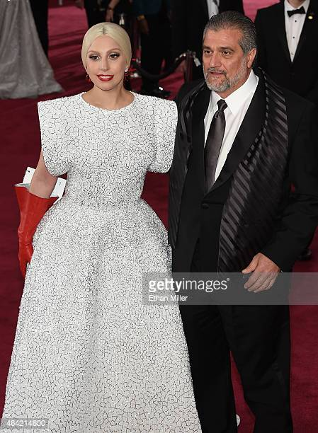 Singer Lady Gaga and Joe Germanotta attend the 87th Annual Academy Awards at Hollywood Highland Center on February 22 2015 in Hollywood California
