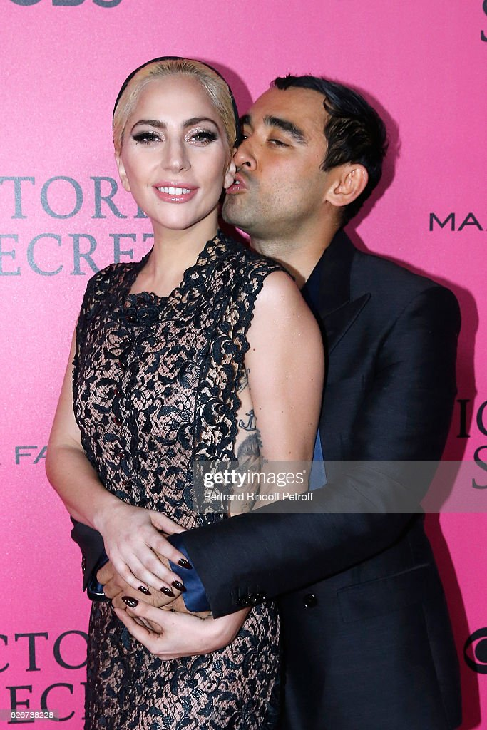 Singer Lady Gaga and Nicola Formichetti attend the 2016 Victoria's Secret Fashion Show. Held at Grand Palais on November 30, 2016 in Paris, France.