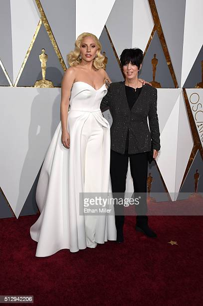 Singer Lady Gaga and songwriter Diane Warren attend the 88th Annual Academy Awards at Hollywood Highland Center on February 28 2016 in Hollywood...
