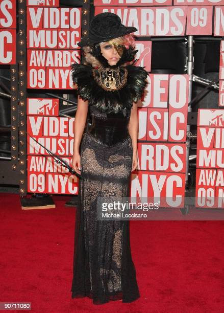 Singer Lady Gaga arrives at the 2009 MTV Video Music Awards at Radio City Music Hall on September 13 2009 in New York City
