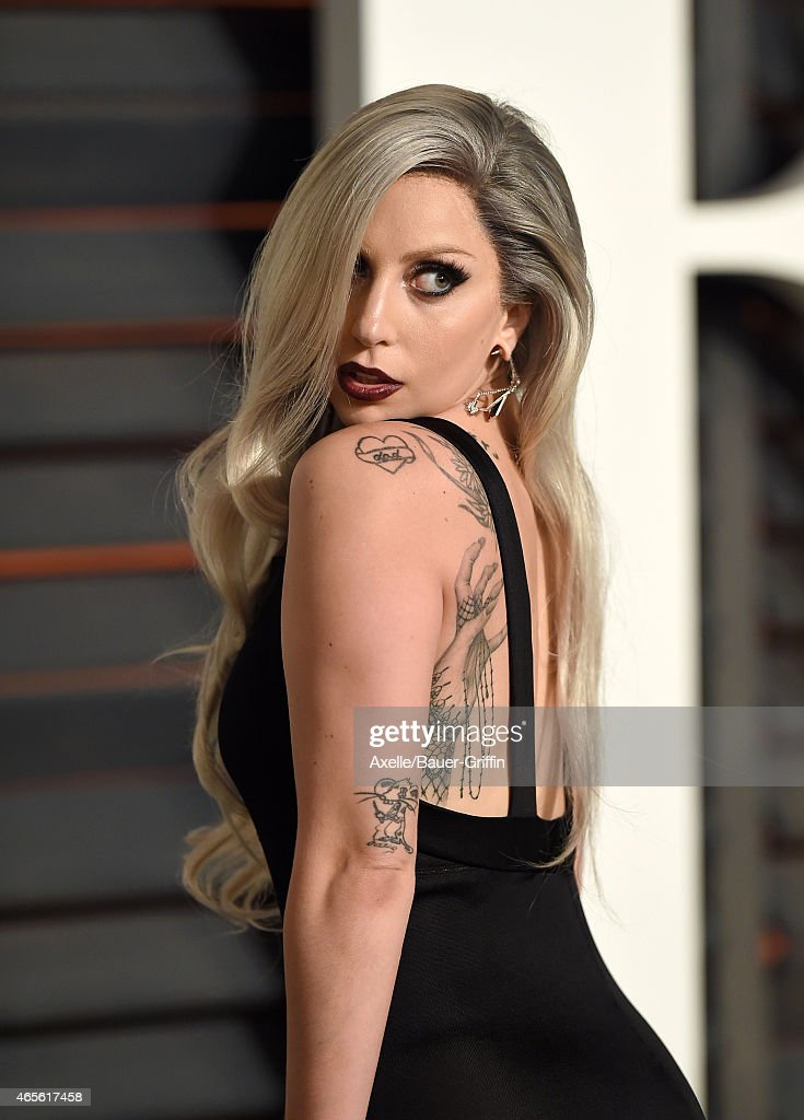 Singer Lady Gaga Arrives At The 2015 Vanity Fair Oscar Party Hosted News Photo Getty Images