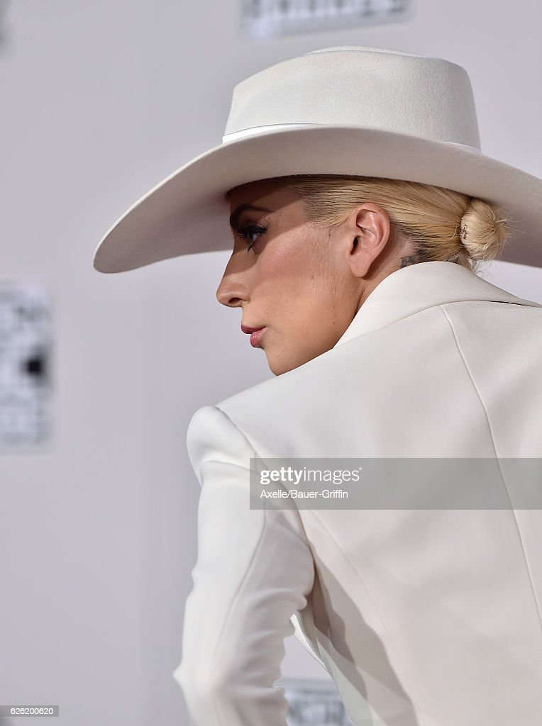 Singer Lady Gaga arrives at the 2016 American Music Awards at Microsoft Theater on November 20, 2016 in Los Angeles, California.