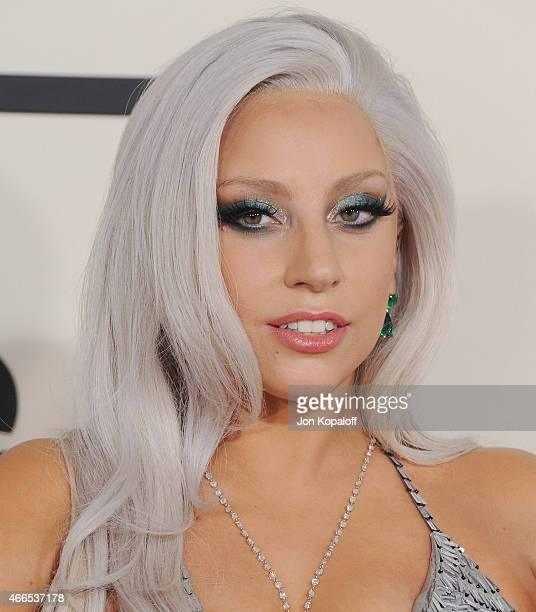 Singer Lady Gaga arrives at the 57th GRAMMY Awards at Staples Center on February 8, 2015 in Los Angeles, California.