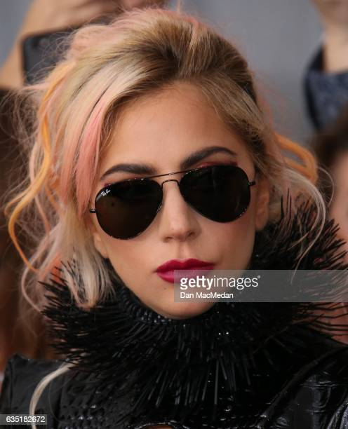 Singer Lady Gaga arrives at The 59th GRAMMY Awards at Staples Center on February 12 2017 in Los Angeles California