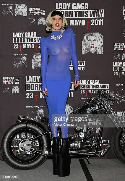 Singer Lady Gaga attends a photocall and a press conference to promote her new album Born This Way and the end of the Monster Ball Tour at St Regis...