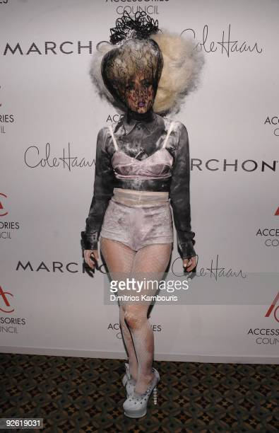 Singer Lady Gaga attends the 13th Annual 2009 ACE Awards presented by the Accessories Council at Cipriani 42nd Street on November 2 2009 in New York...