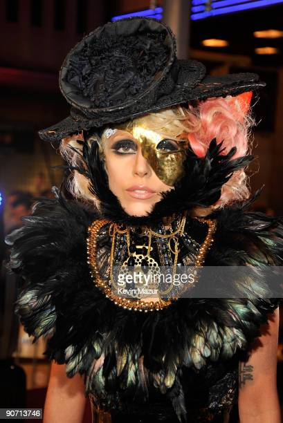 Singer Lady Gaga attends the 2009 MTV Video Music Awards at Radio City Music Hall on September 13 2009 in New York City