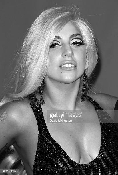Singer Lady Gaga attends the 2015 MusiCares Person of the Year Gala honoring Bob Dylan at the Los Angeles Convention Center on February 6 2015 in Los...