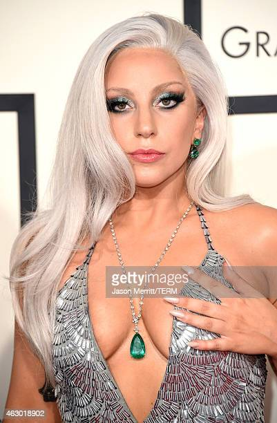 Singer Lady Gaga attends The 57th Annual GRAMMY Awards at the STAPLES Center on February 8 2015 in Los Angeles California
