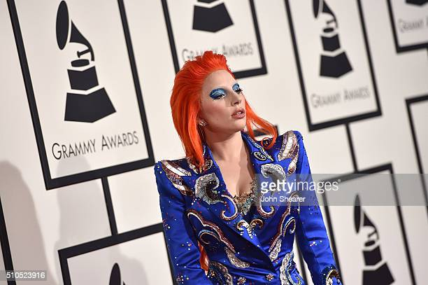 Singer Lady Gaga attends The 58th GRAMMY Awards at Staples Center on February 15 2016 in Los Angeles California