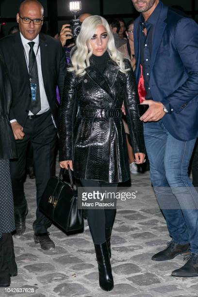 Singer Lady Gaga attends the Celine show as part of the Paris Fashion Week Womenswear Spring/Summer 2019 on September 28 2018 in Paris France