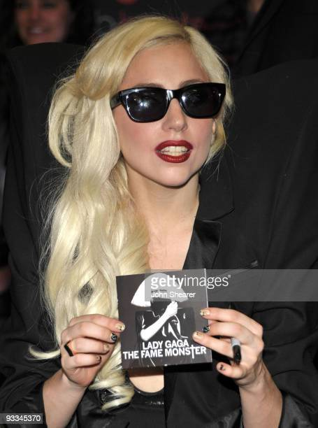 Singer Lady Gaga attends the launch party for Club Beats presented by Best Buy, Monster, & Beats By Dr. Dre at Best Buy on November 23, 2009 in Los...