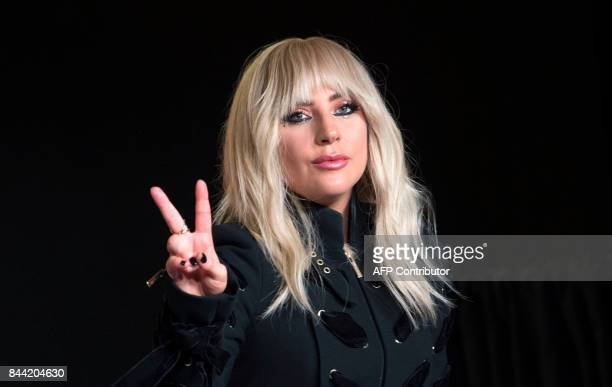 Singer Lady Gaga attends the press conference for 'Gaga Five Foot Two' during the 2017 Toronto International Film Festival at TIFF Bell Lightbox...