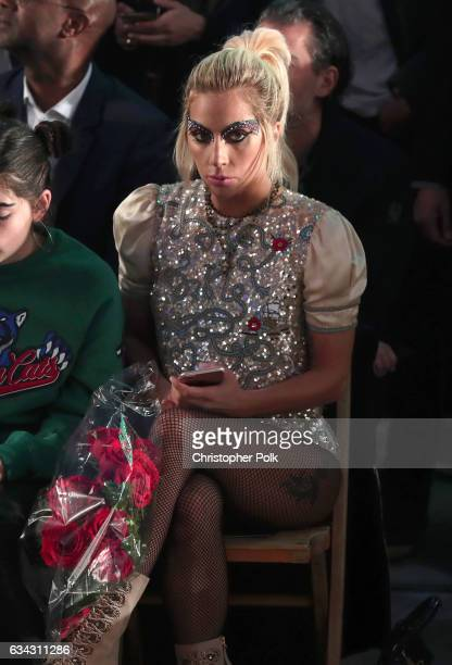 Singer Lady Gaga attends the TommyLand Tommy Hilfiger Spring 2017 Fashion Show on February 8 2017 in Venice California