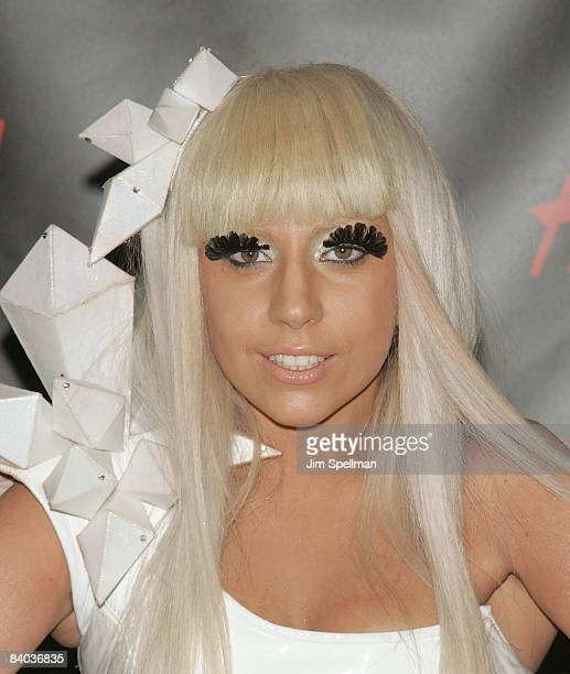 Singer Lady GaGa attends Z100s Jingle Ball 2008 Presented by HM at Madison Square Garden on December 12 2008 in New York City