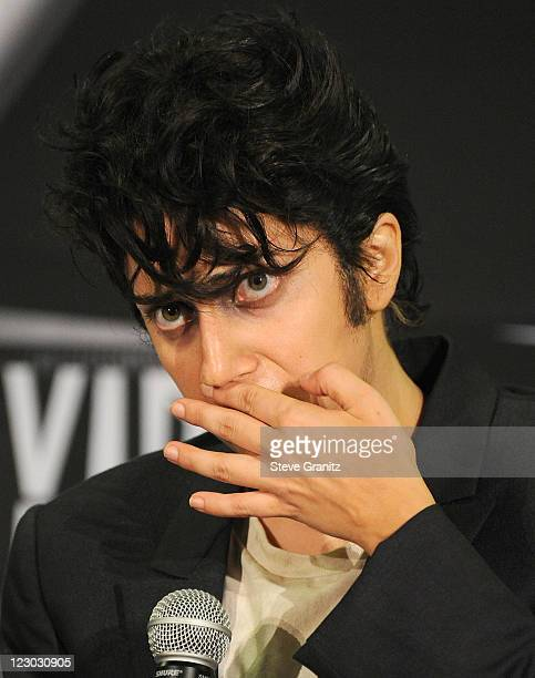 Singer Lady Gaga dressed as 'Jo Calderone' attends the 28th Annual MTV Video Music Awards at Nokia Theatre LA Live on August 28 2011 in Los Angeles...